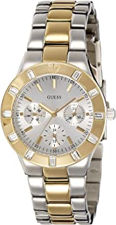Guess Women's Quartz Watch with Black Dial Analogue Display Quartz Stainless Steel W14551L2