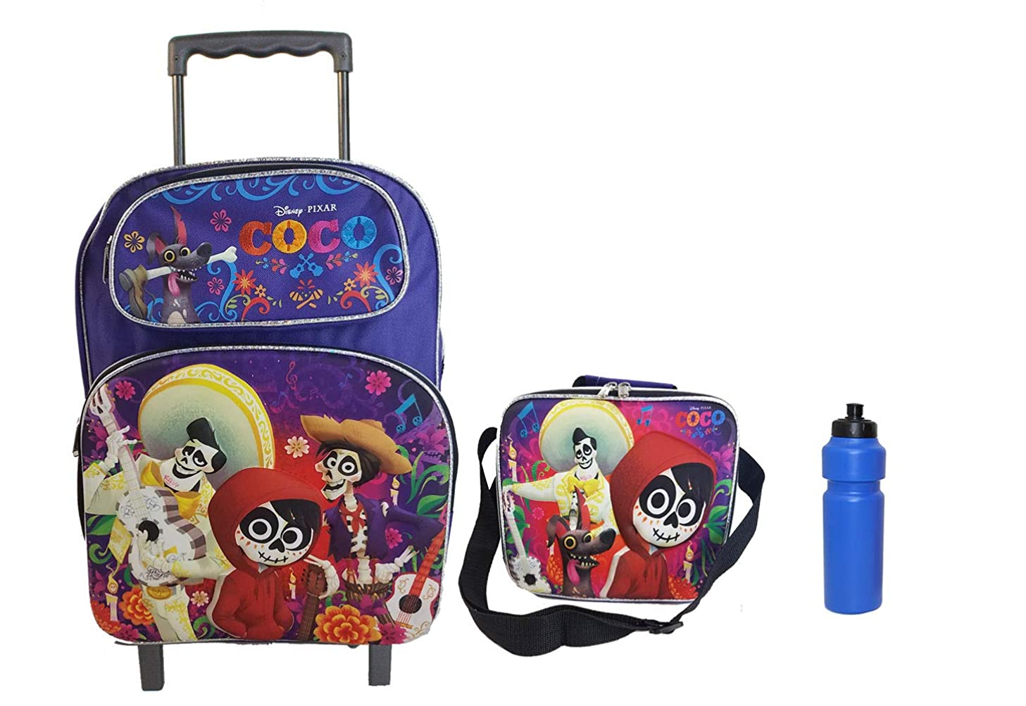 NEW Disney COCO Remember Me Rolling Backpack with Lunch case