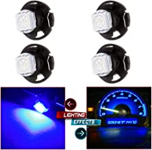 cciyu 4 Pack Blue 1-5050 SMD T4.7 Neo Wedge LED A/C Climate Control Lights 12mm Bright Blue T5 T1.25 Neo Wedge Base Replacement fit for 1990-1997 Honda Accord 2001-2005 Honda Civic