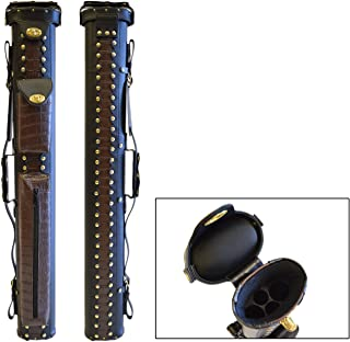 2x2/2x4 Hard Premium Pool Cue Case 2B2S/2B4S Billiard Stick Carrying Cue Case Spring Loaded, (Several Colors