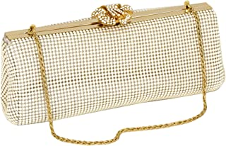 Whiting & Davis Crystal Flower Clutch