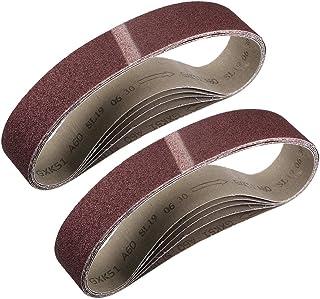 """2""""x 27"""" 60 Grit Sanding Belt Aluminiumoxid Sandpapper Bälten för Bärbar Strip Slipmaskin Wood Finishing Metal Gipsvägg Pol..."""