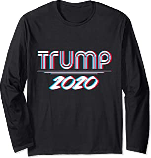 Trump 2020 For President Election Streetwear Manche Longue