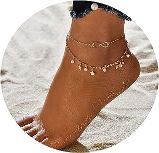 Bracelet for Women Leg Chain Round Tassel Anklet Vintage Foot Jewelry Accessories