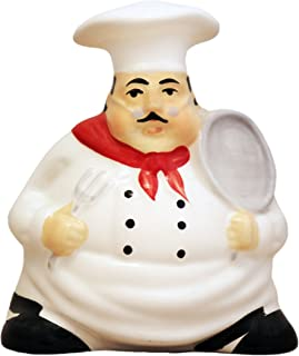 Tuscany Bistro Chef Collection, Hand Painted, Ceramic Napkin Holder, 88928-1 by ACK