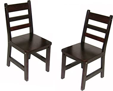 """Lipper International Child's Chairs for Play or Activity, 12.38"""" W x 15"""" D x 26.63"""" H, Set of 2, Espresso Fin"""