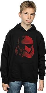 Star Wars Garçon The Last Jedi Stormtrooper Red Cubist Helmet Sweat À Capuche