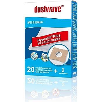 dustwave - 20 bolsas de aspiradora para Taurus Vitara 3000, 3000 NEW aspiradora, fabricadas en Alemania, incluye microfiltro: Amazon.es: Hogar