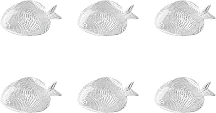 Preisvergleich für Pasabahce 6 x Fischteller/Fischservierplatte Glas Größe 19,5x15cm