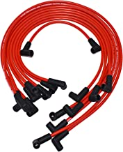 A-Team Performance Silicone Spark Plug Wires Set V6 V8 Compatible With Chevy Chevrolet GMC 4.3L 5.0L 5.7L TBI EFI - 8.0mm Red