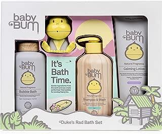 Baby Bum Duke's Bath Gift Set - Shower Gel Shampoo and Wash - Bubble Bath - Everyday Lotion - Duke Bath Toy