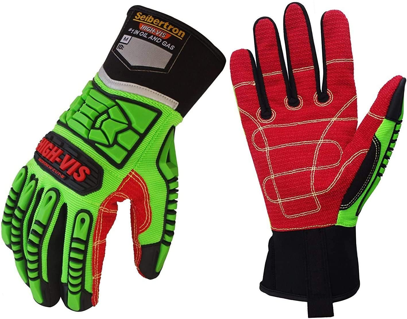 Seibertron HIGH-VIS HDC5 Level Raleigh Mall 5 H Deckhand Resistant Gloves Cut Superior