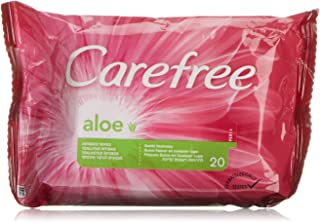 CAREFREE 2 x 20 UDS Aloe Intimates Wipes by Carefree