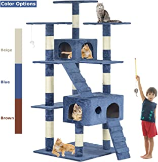BestPet Cat Tree Cat Tower Cat Condo 72 inches Tall Multi-Level Playpen House Kitty..