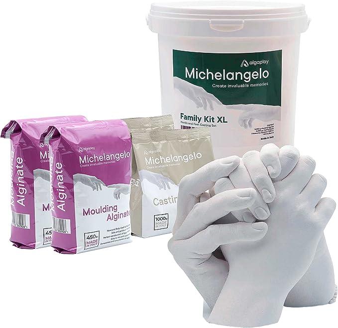 578 opiniones para Michelangelo Kit XL 4 Manos, para Crear una Escultura de 4 Manos de Adultos o de