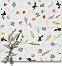 Emonye The Life Aquatic with Steve Zissou Repeat Pattern Placemats for Dining Table,Washable Placemat Set of 6, 12x12 Inch