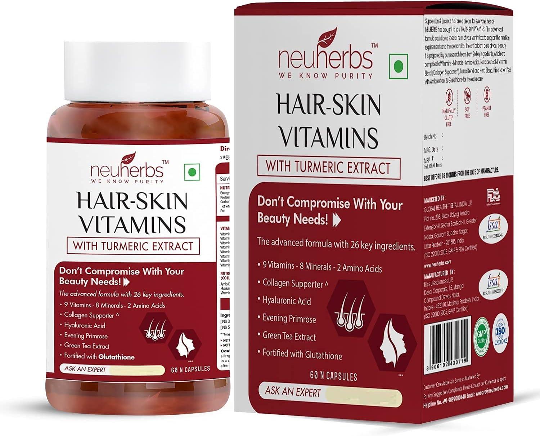 Fedel Neuherbs Hair Skin 2021 Vitamins Biotin 2021 model B - Supplement Keratin