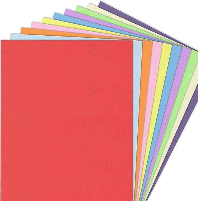 119 opinioni per 100 fogli, A4 120 g/m² Fogli Colorati Carta Colorata- 10 Colori