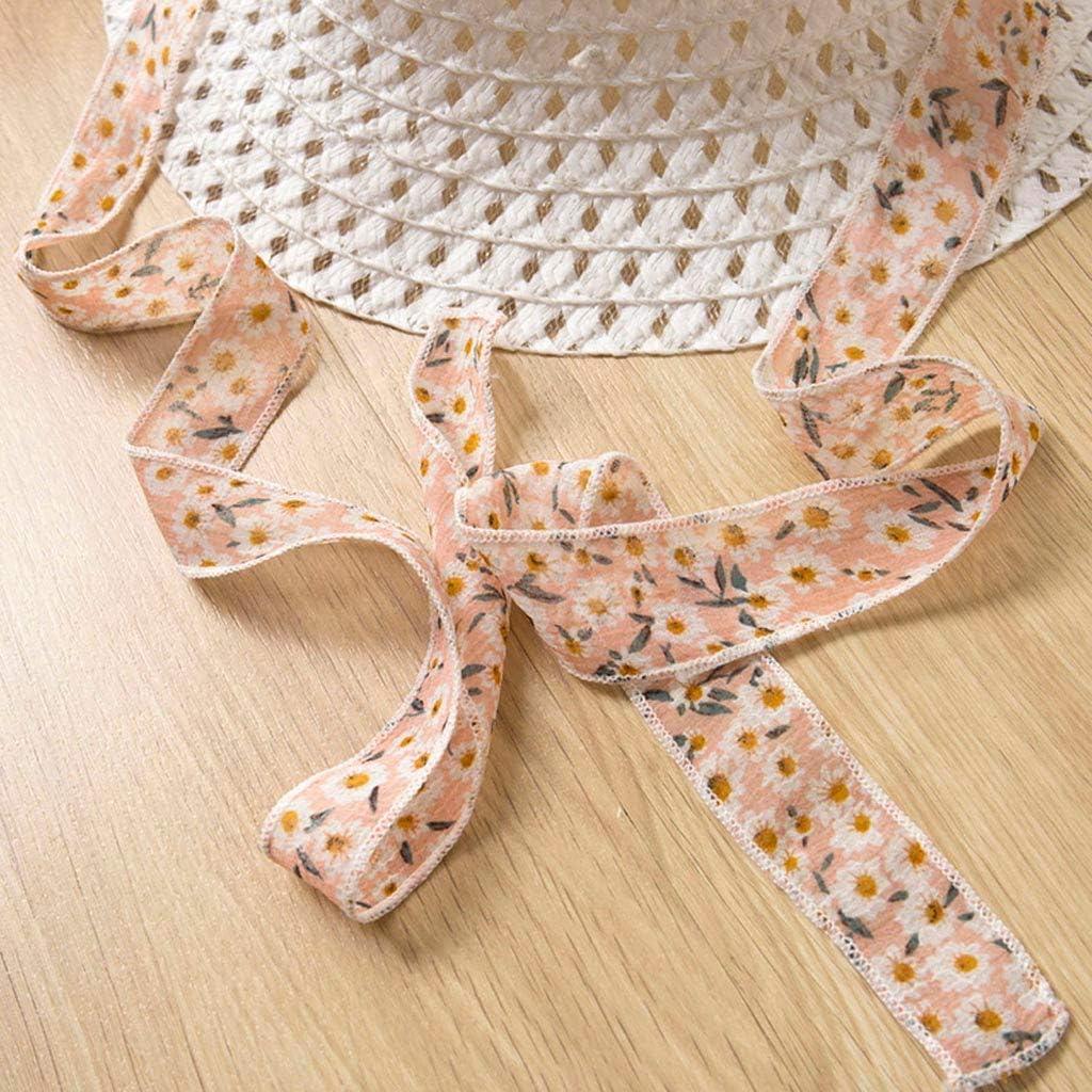 RYGHEWE 3PCS Little Girls Summer Outfits Clothes Floral Vest T-Shirt Tops Shorts+Sun Hat Set