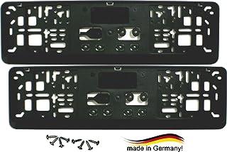 Satz (2 Stück) Kennzeichenhalter   KURZ (46 cm)   PREMIUMQUALITÄT   NEU   inklusive 8 Schrauben   Nummernschildhalter