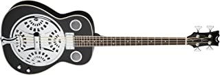 Dean RES BASS CBK Resonator Acoustic/Electric Bass, Classic Black