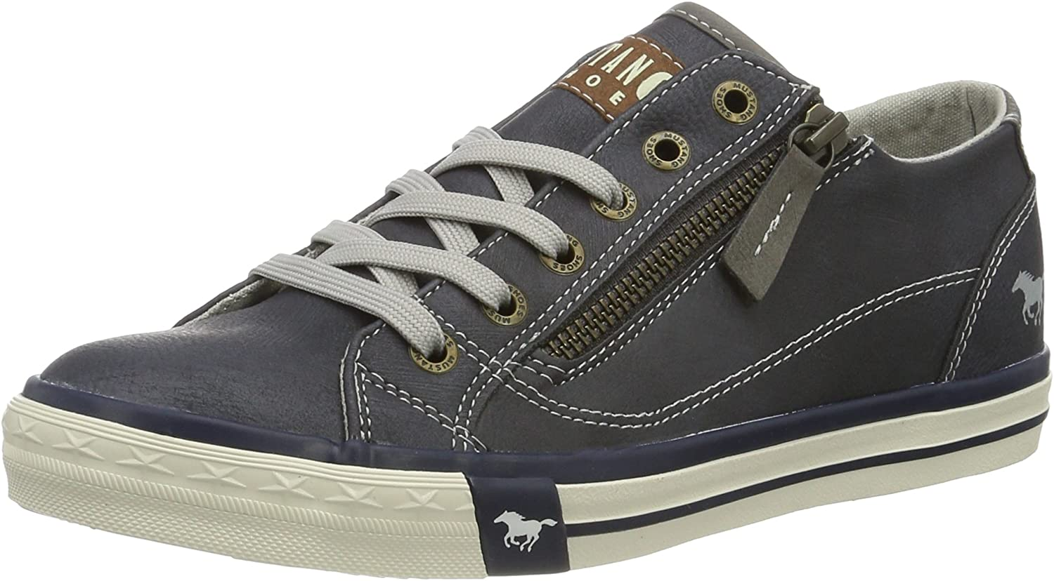 Mustang Women's Dark bluee Lace up Fashion Sneaker