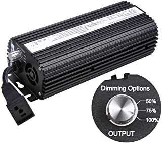 Dimmable Electronic Grow Light Ballast for MH HPS 400 Watt w/ Power Cord Built-In Fuse Cooling Fan Stabilize Input 120V/240V