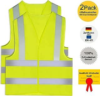 Gilet di sicurezza per bambini ad alta visibilit/à catarifrangente giallo