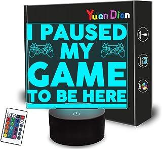 أنا وقفت لعبتي أن أكون هنا ، ضوء ليلي مضحك للرجال، هدايا فكاهة ألعاب الفيديو للمراهقين ، مصباح وهمي ثلاثي الأبعاد 16 لونًا...
