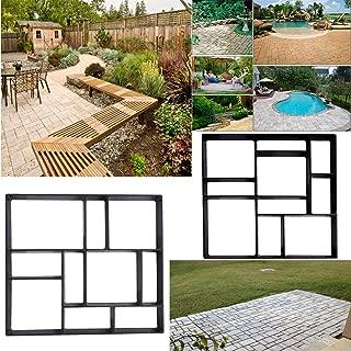 Moule /à Pav/é Irr/égulier B/éton pour Chemin Path Maker Moule /à Pavage pour Pavement All/ée Patio de Jardin Terrasse Pathmate Stone 45X40X4cm
