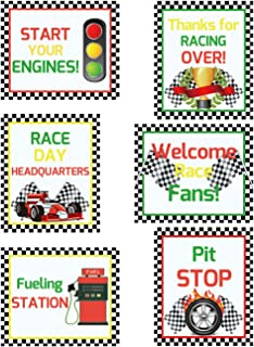 Racing Cutouts for Birthday Party Supply School Bulletin Board Decoration 6Pcs