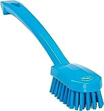 "Vikan 30883 Small Utility Brush, Polyester Bristle, 2.76"" Height, 1.57"" Width, 10.24"" Length, Polypropylene, Blue"