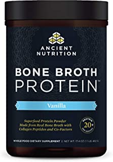 Bone Broth Protein Powder, Vanilla, Food-Sourced Hydrolyzed Collagen Supplement, Formulated by Dr. Josh Axe...