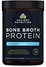 Best Bone Broth Protein Powder, Vanilla, Food-Sourced Hydrolyzed Collagen Supplement, Formulated by Dr. Josh Axe, Made Without Gluten or Dairy, Paleo Friendly, Supports Joints, Skin & Gut, 17.4 Ounces Review