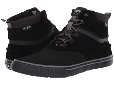 Sperry Striper Storm Waterproof Boot (Black Suede) Men