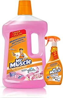 Mr Muscle All Purpose Cleaner Floral - 3Liter + Mr.Muscle Kitchen Cleaner - 500 ml