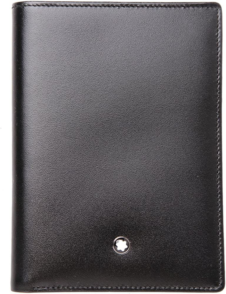 Montblanc Wallet 7CC with Pocket for Identity Card : Black : 35798