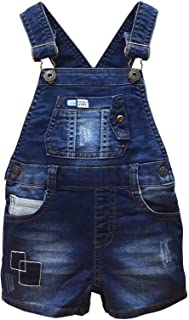 Baby Easy Diaper Changing Patchwork Decor Fashion Jeans Shortalls