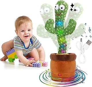 لعبة الصبار الراقص الالكترونية للاطفال، لعبة تعليمية مضحكة من القطيفة، ترقص وتغني (USB)