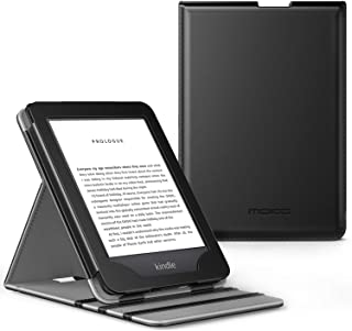 MoKo Case Fits All-New Kindle (10th Generation, 2019) / Kindle (8th Generation, 2016), Premium Vertical Flip Cover with Auto Wake/Sleep Function - Black
