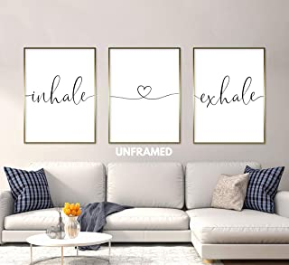 Inhale Exhale 24 x 36 Inch print Minimalist Art Typography Art Bedroom Wall Art Romantic Gift Home Wall Art Poster