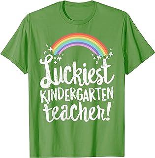 Luckiest Kindergarten Teacher St Patricks Day T-Shirt Gift T-Shirt