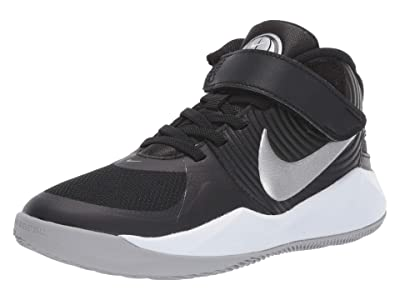Nike Kids SINGLE SHOE Flyease Team Hustle D 9 (Big Kid) (Black/Metallic Silver/Wolf Grey) Kid