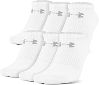 Under Armour Adult Charged Cotton 2.0 No Show Socks, 6-Pairs