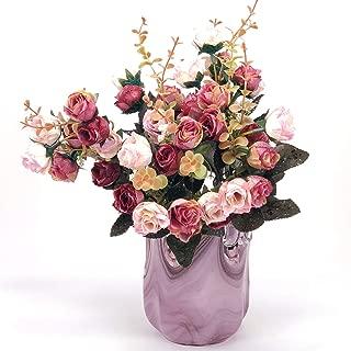 Antico Murano Hand Blown Murano Glass Pink Vase, Made in Italy