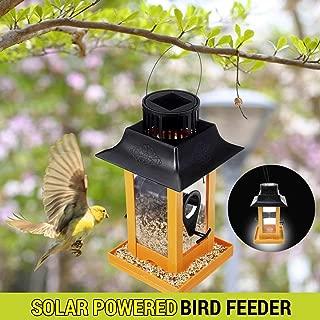 Verbena HOT - Bird Feeding - Bird Feeder Hanging Solar Led Lamp Outdoor Wild Bird Pet Parrot Feeding Food Garden House Decor Container Holder Safe Hanging - by GTIN - 1 Pcs