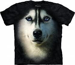 Siberian Husky Shirt Dog Face T-Shirt Tie Dye Adult Tee