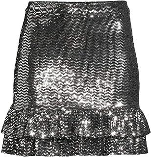 Michael Michael Kors Women's Mirror Dot Mini Skirt, Black/Silver