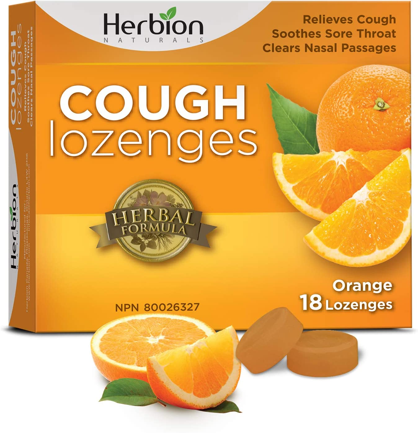 Ranking TOP10 Herbion Naturals Cough Drops low-pricing 18 Orange Count