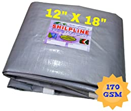 SHILPLINE 100% Pure Virgin UV Waterproof Tarpaulin, 170 GSM, 12x18 Ft (Silver and White)